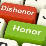 El honor de la deshonra cierra integridad y moralejas de las demostraciones stock de ilustración