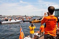 El honrar de las personas de fútbol holandesas Foto de archivo