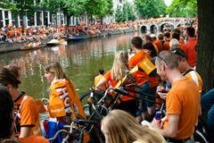 El honrar de las personas de fútbol holandesas Fotografía de archivo