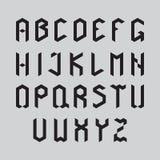 El horario del alfabeto set Imágenes de archivo libres de regalías