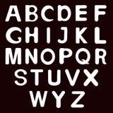 El horario del alfabeto set Ejemplo del vector de las letras del alfabeto Imagen de archivo libre de regalías