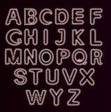 El horario del alfabeto set Ejemplo del vector de las letras rizadas del alfabeto Foto de archivo libre de regalías