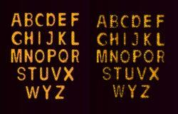 El horario del alfabeto set Ejemplo del vector de las letras rizadas del alfabeto Fotografía de archivo libre de regalías