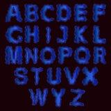 El horario del alfabeto set Ejemplo del vector de las letras rizadas del alfabeto Neo Imágenes de archivo libres de regalías