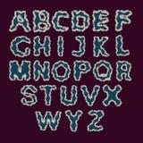 El horario del alfabeto set Vector el ejemplo de las letras rizadas del alfabeto en v Imagen de archivo