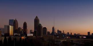 El horizonte de Atlanta Imágenes de archivo libres de regalías