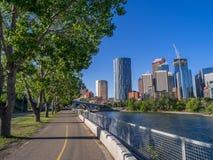 El horizonte de Calgary foto de archivo libre de regalías