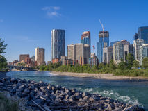 El horizonte de Calgary imágenes de archivo libres de regalías