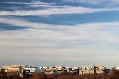 El horizonte de DC durante invierno Imagen de archivo