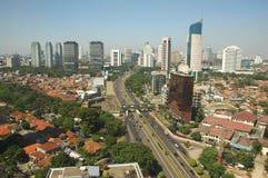 El horizonte de Jakarta Foto de archivo