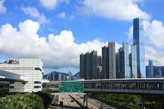 El horizonte de Kowloon imagen de archivo libre de regalías