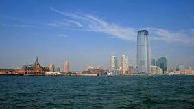 El horizonte de la ciudad de Jersey Imagenes de archivo