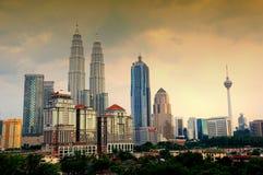 El horizonte de la ciudad de Kuala Lumpur Fotos de archivo libres de regalías
