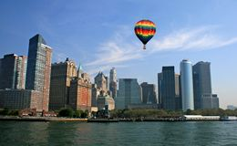 El horizonte de New York City Imagen de archivo libre de regalías