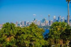 El horizonte de Sydney Imagen de archivo libre de regalías