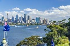 El horizonte de Sydney Fotos de archivo