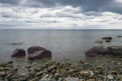 El horizonte del lago Baikal Imágenes de archivo libres de regalías