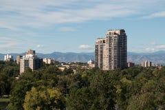 El horizonte emergente de Denver, Colorado Fotos de archivo