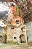 El horno continuo más viejo de los metales en Europa Imagen de archivo
