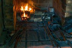 El horno en la fragua Fotos de archivo