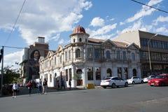El hotel cosmopolita viejo en el recinto popular de Maboneng de J Foto de archivo libre de regalías