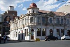 El hotel cosmopolita viejo en el recinto popular de Maboneng de J Fotos de archivo libres de regalías