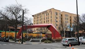 El hotel de Bush en Chinatown, Seattle, Washington fotos de archivo libres de regalías