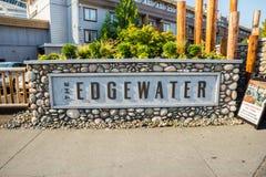El hotel de Edgewater está situado en la costa en Seattle imagenes de archivo