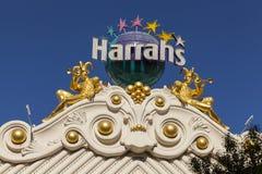 El hotel de Harrahs firma adentro Las Vegas, nanovoltio el 26 de junio de 2013 Imagen de archivo