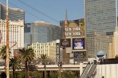 El hotel de Nueva York Nueva York, Las Vegas, los E.E.U.U. fotos de archivo