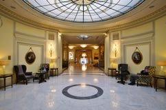 El hotel del palacio de Westin de la señal en Madrid, España Fotografía de archivo