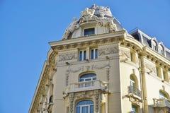 El hotel del palacio de Westin de la señal en Madrid, España Fotografía de archivo libre de regalías