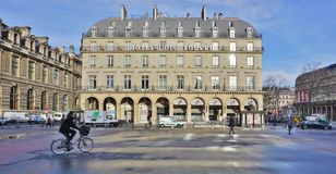 El hotel du Louvre en París Fotos de archivo