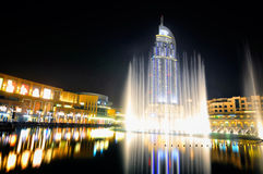 El hotel Dubai de la dirección Fotos de archivo