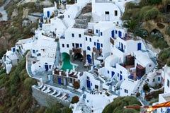 El hotel en Santorini fotografía de archivo libre de regalías