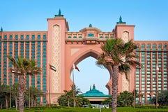 El hotel famoso de la Atlántida en la isla de palma el 3 de junio de 2013 en Dubai Imagen de archivo