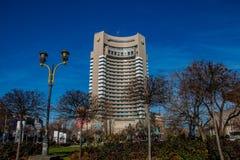 El hotel intercontinental en Bucarest Rumania imagen de archivo libre de regalías
