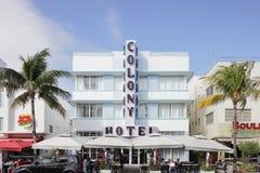 El hotel Miami Beach de la colonia Fotos de archivo
