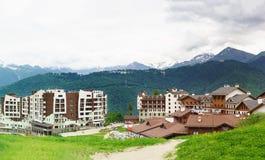 El hotel Rosa Springs y un ` s de los niños aporrean, estación de esquí Fotografía de archivo libre de regalías