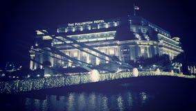 El hotel Singapur de Fullerton Imagen de archivo