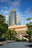 El hotel Singapur de Fullerton Imagenes de archivo