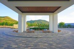 El hotel turístico del St San Cristobal de Hyatt del parque en St San Cristobal y Nevis Imágenes de archivo libres de regalías