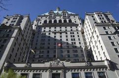 El hotel Vancouver de Fairmont Fotografía de archivo libre de regalías