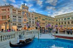 El hotel veneciano Macao del casino Foto de archivo