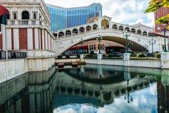 El hotel veneciano Macao del casino Imágenes de archivo libres de regalías