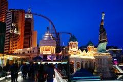 El hotel y el casino 4 de Nueva York Nueva York imagen de archivo libre de regalías