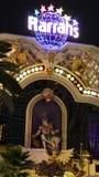 El hotel y el casino de Harrah en Las Vegas Foto de archivo libre de regalías