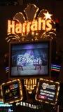El hotel y el casino de Harrah en Las Vegas Imágenes de archivo libres de regalías
