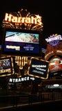 El hotel y el casino de Harrah en Las Vegas Imagen de archivo libre de regalías