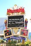 El hotel y el casino de Harrah firman adentro Las Vegas Fotografía de archivo libre de regalías